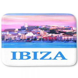 Decorative Bathroom Mats | Markus Bleichner - Poster Ibiza | city town coast harbor