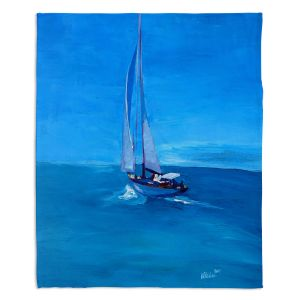 Decorative Fleece Throw Blankets | Markus Bleichner - Sailing Into The Blue l