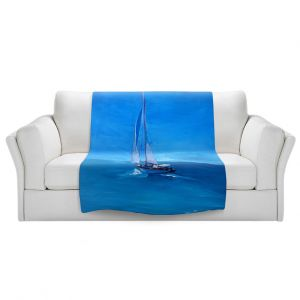 Artistic Sherpa Pile Blankets | Markus Bleichner - Sailing Into The Blue l