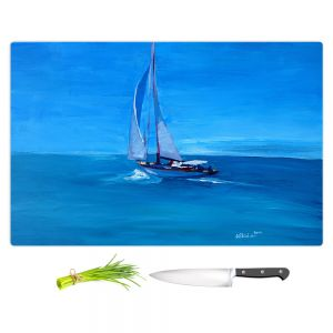 Artistic Kitchen Bar Cutting Boards | Markus Bleichner - Sailing Into The Blue l