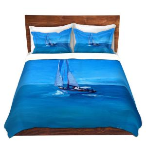 Artistic Duvet Covers and Shams Bedding | Markus Bleichner - Sailing Into The Blue l