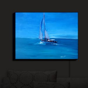 Nightlight Sconce Canvas Light | Markus Bleichner - Sailing Into The Blue I | Water Boat