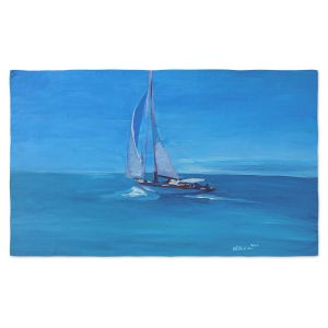 Artistic Pashmina Scarf | Markus Bleichner - Sailing Into The Blue I | Water Boat