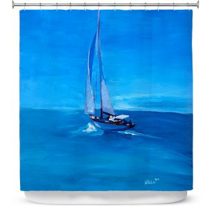 Premium Shower Curtains | Markus Bleichner - Sailing Into The Blue l