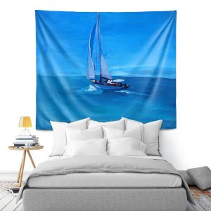 Artistic Wall Tapestry | Markus Bleichner - Sailing Into The Blue l