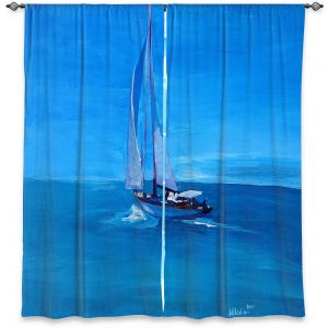 Decorative Window Treatments | Markus Bleichner - Sailing Into The Blue l