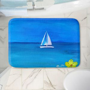 Decorative Bathroom Mats | Markus Bleichner - Sailing Into The Blue ll