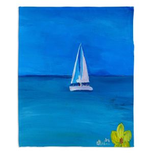 Decorative Fleece Throw Blankets | Markus Bleichner - Sailing Into The Blue ll