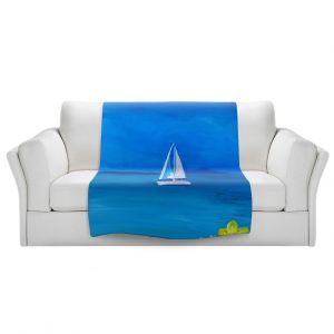 Artistic Sherpa Pile Blankets | Markus Bleichner - Sailing Into The Blue ll