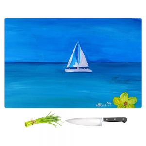 Artistic Kitchen Bar Cutting Boards | Markus Bleichner - Sailing Into The Blue ll
