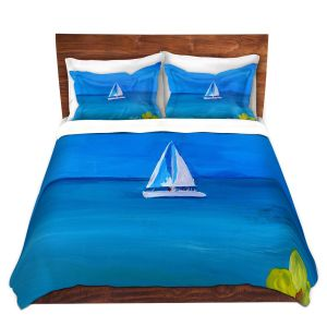 Artistic Duvet Covers and Shams Bedding | Markus Bleichner - Sailing Into The Blue ll