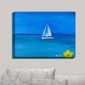 Decorative Canvas Wall Art | Markus Bleichner - Sailing Into The Blue II | Water Boat