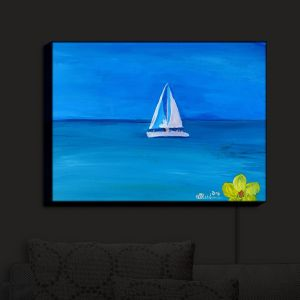 Nightlight Sconce Canvas Light | Markus Bleichner - Sailing Into The Blue II | Water Boat