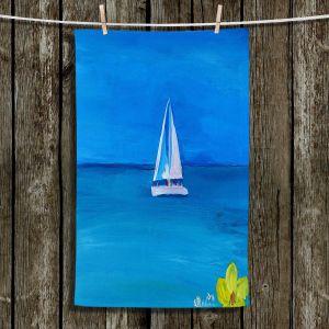 Unique Bathroom Towels | Markus Bleichner - Sailing Into The Blue ll
