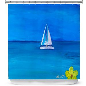 Premium Shower Curtains | Markus Bleichner - Sailing Into The Blue ll
