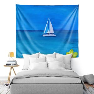 Artistic Wall Tapestry   Markus Bleichner - Sailing Into The Blue ll