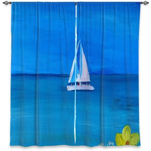 Decorative Window Treatments | Markus Bleichner - Sailing Into The Blue ll