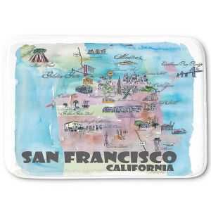 Decorative Bathroom Mats | Markus Bleichner - San Francisco Tourist 2 | map city simple