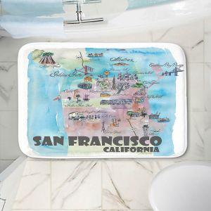 Decorative Bathroom Mats | Markus Bleichner - San Francisco Tourist 2 | map city simple