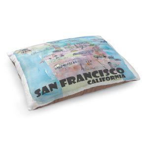 Decorative Dog Pet Beds   Markus Bleichner - San Francisco Tourist 2   map city simple