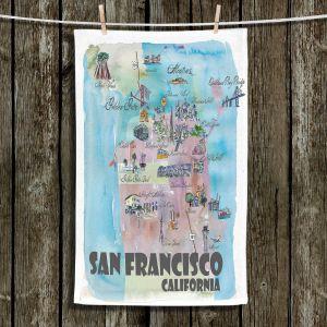 Unique Bathroom Towels   Markus Bleichner - San Francisco Tourist 2   map city simple