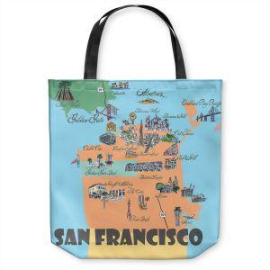 Unique Shoulder Bag Tote Bags   Markus Bleichner - San Francisco Tourist 3   map city simple