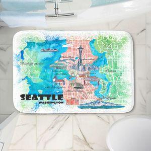 Decorative Bathroom Mats | Markus Bleichner - Seattle Tourist Map 1 | Cities Maps Travel