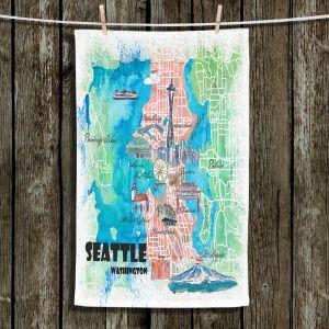 Unique Hanging Tea Towels | Markus Bleichner - Seattle Tourist Map 1 | Cities Maps Travel