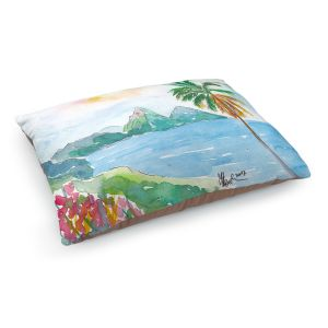 Decorative Dog Pet Beds | Markus Bleichner - St Lucia | coast mountain beach palm tree