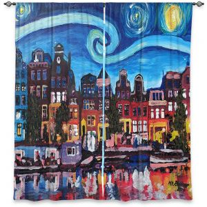 Decorative Window Treatments | Markus Bleichner - Starry Night Amsterdam | Nighttime Starry Night Amsterdam