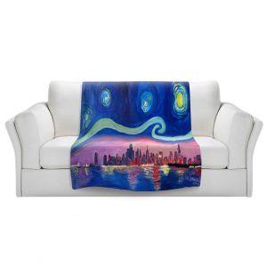 Unique Sherpa Blankets from DiaNoche Designs by Markus Bleichner - Starry Night Chicago