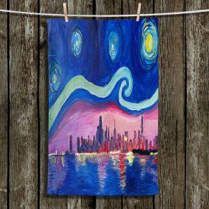 Unique Bathroom Towels | Markus Bleichner - Starry Night Chicago | Skyline Night Starry Night Chicago