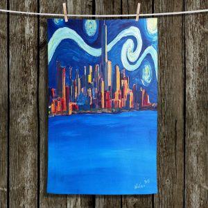 Unique Bathroom Towels | Markus Bleichner - Starry Night In New York City Van Gogh