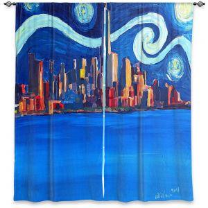 Decorative Window Treatments | Markus Bleichner - Starry Night In New York City Van Gogh
