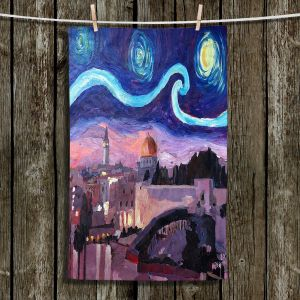 Unique Bathroom Towels | Markus Bleichner - Starry Night Jerusalem | Starry Night Jerusalem
