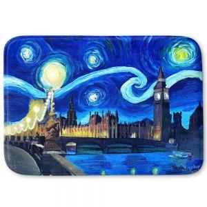 Decorative Bathroom Mats | Markus Bleichner - Starry Night London Van Gogh