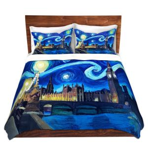 Unique Duvet Covers Discount - Duvet Microfiber Queen set | Markus Bleichner - Starry Night London Van Gogh