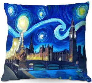 Throw Pillows Decorative Artistic | Markus Bleichner - Starry Night London Van Gogh