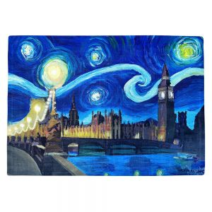 Countertop Place Mats | Markus Bleichner - Starry Night London Van Gogh