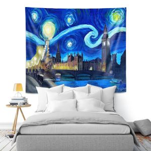 Artistic Wall Tapestry | Markus Bleichner - Starry Night London Van Gogh