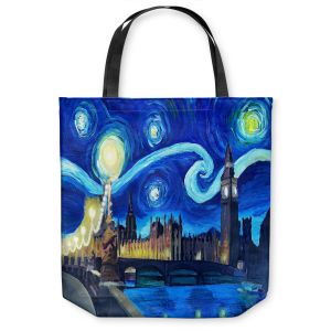 Unique Shoulder Bag Tote Bags |Markus Bleichner - Starry Night London Van Gogh