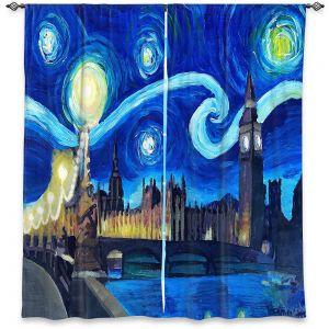 Decorative Window Treatments | Markus Bleichner - Starry Night London Van Gogh