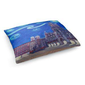 Decorative Dog Pet Beds | Markus Bleichner - Starry Night Munich Church | City cityscape buildings downtown Germany van Gogh