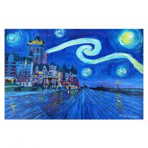 Decorative Floor Coverings | Markus Bleichner - Starry Night Quebec Chateau Van Gogh