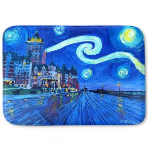 Decorative Bathroom Mats | Markus Bleichner - Starry Night Quebec Chateau Van Gogh