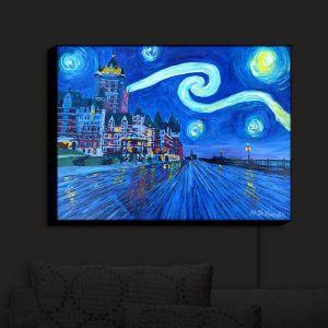 Nightlight Sconce Canvas Light | Markus Bleichner - Starry Night Quebec Chateau Van Gogh | Quebec Chateau Starry Night Van Gogh