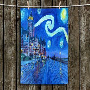 Unique Bathroom Towels | Markus Bleichner - Starry Night Quebec Chateau Van Gogh