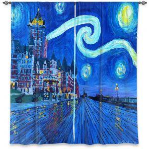 Decorative Window Treatments | Markus Bleichner - Starry Night Quebec Chateau Van Gogh