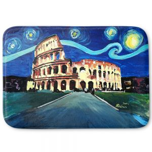 Decorative Bathroom Mats | Markus Bleichner - Starry Night Rome Colloseum | Rome Starry Night Colloseum