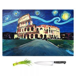 Artistic Kitchen Bar Cutting Boards | Markus Bleichner - Starry Night Rome Colloseum | Rome Starry Night Colloseum
